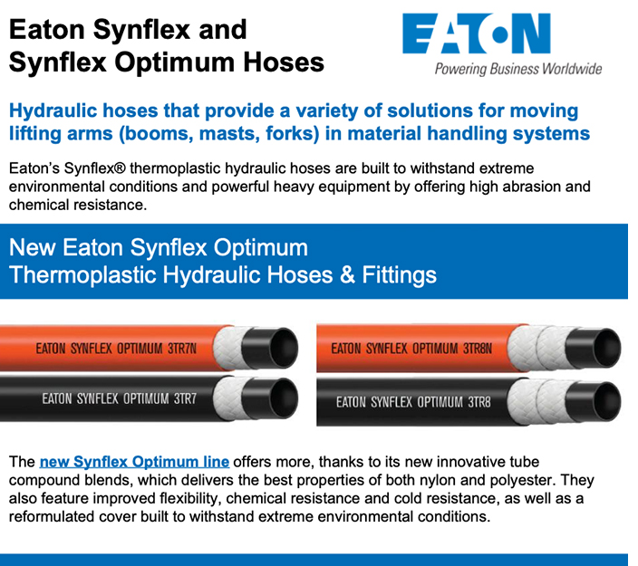 Eaton Synflex and Synflex Optimum Hoses