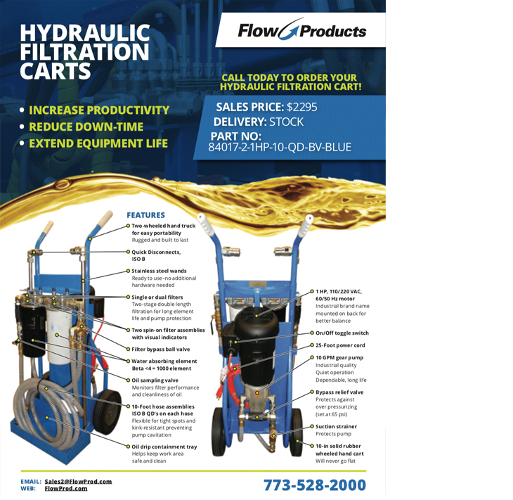 Hydraulic Filtration Carts