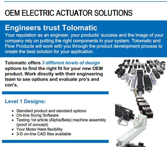 OEM ELECTRIC ACTUATOR SOLUTIONS